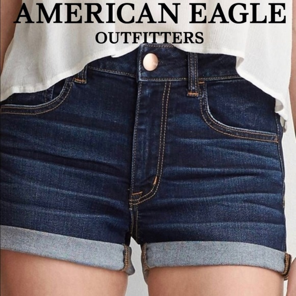 American Eagle Outfitters Pants - AEO Hi-Rise Shortie 360 Super Stretch Denim X